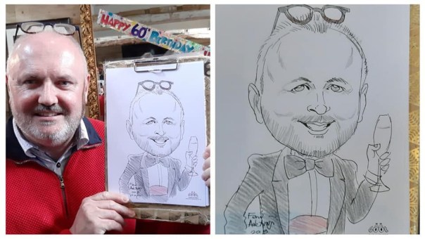 Adult Birthday Party Entertainment Caricaturist