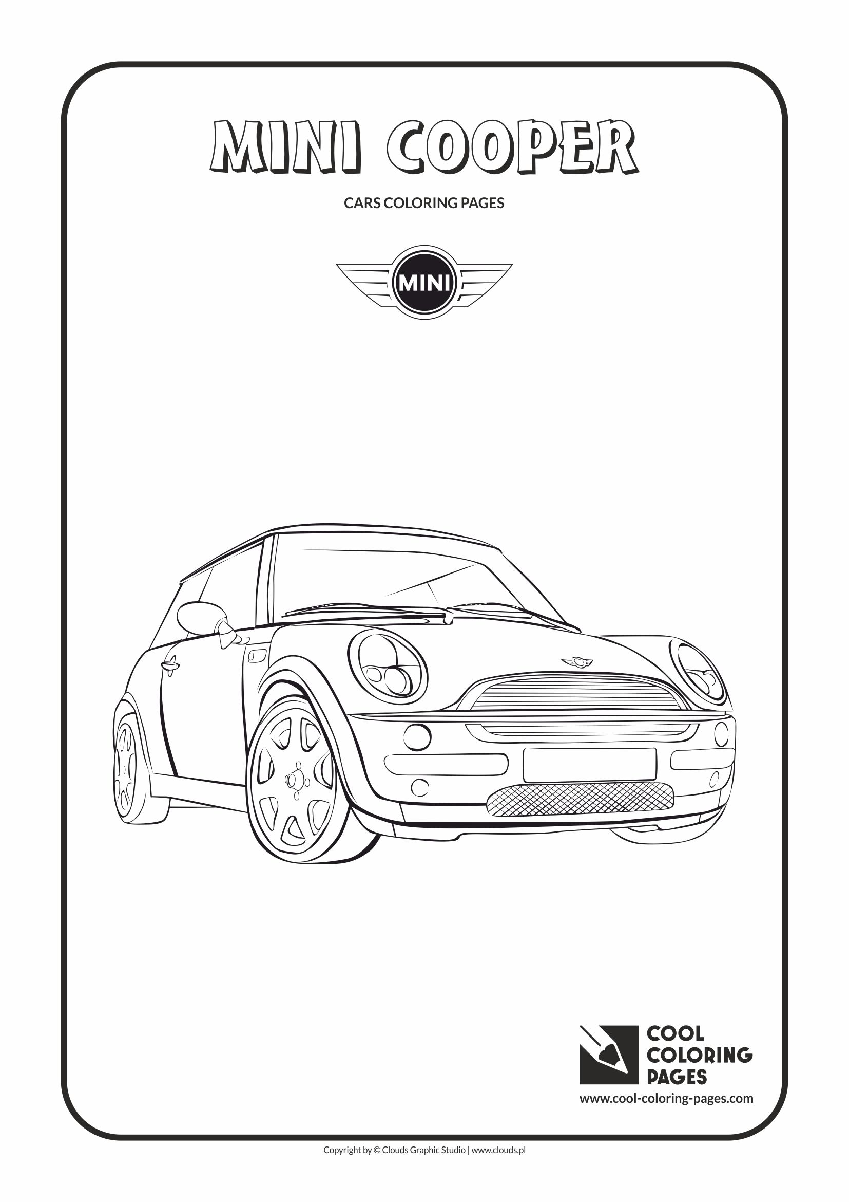 Cool Coloring Pages Mini Cooper Coloring Page