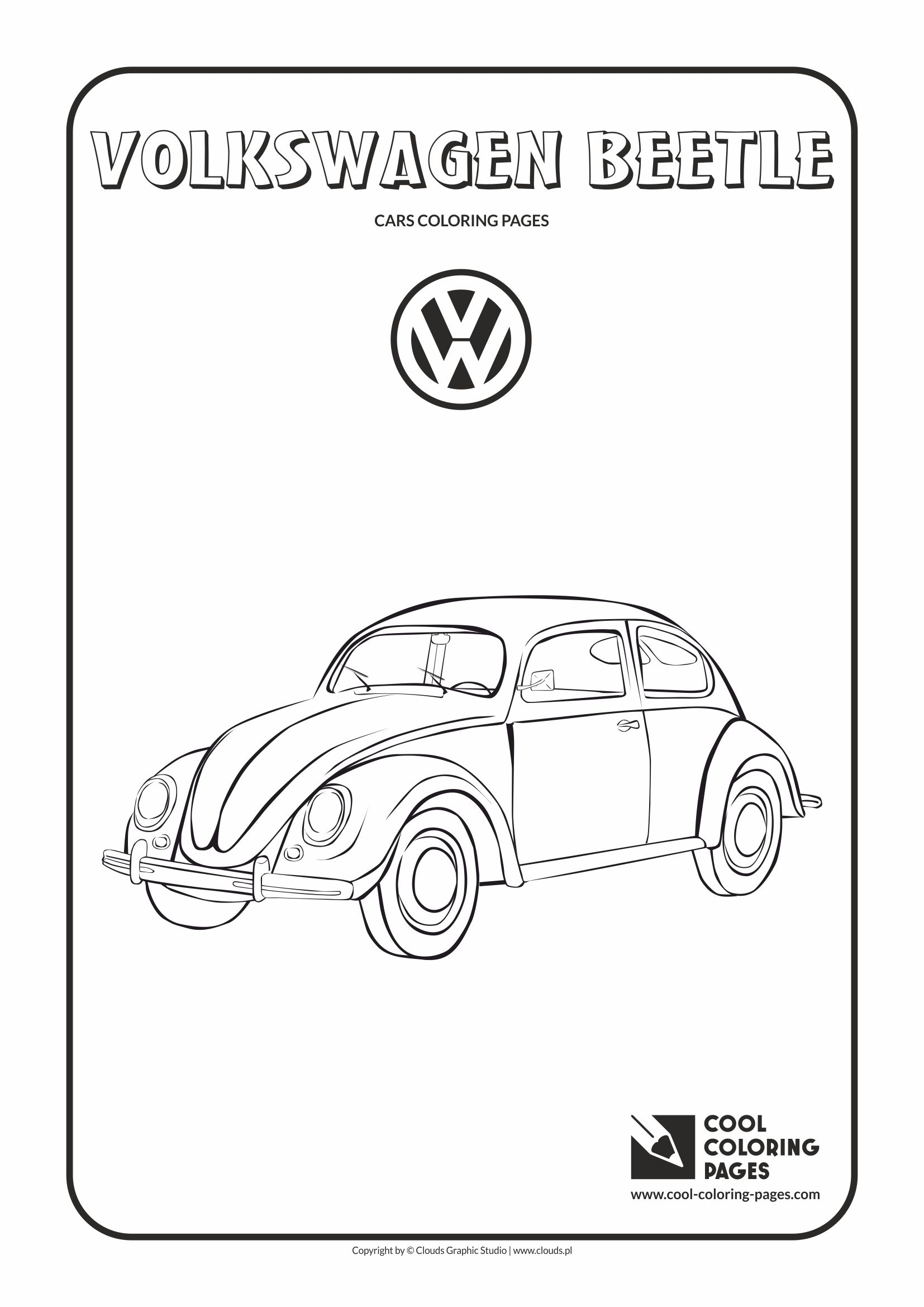 Cool Coloring Pages Volkswagen Beetle Coloring Page