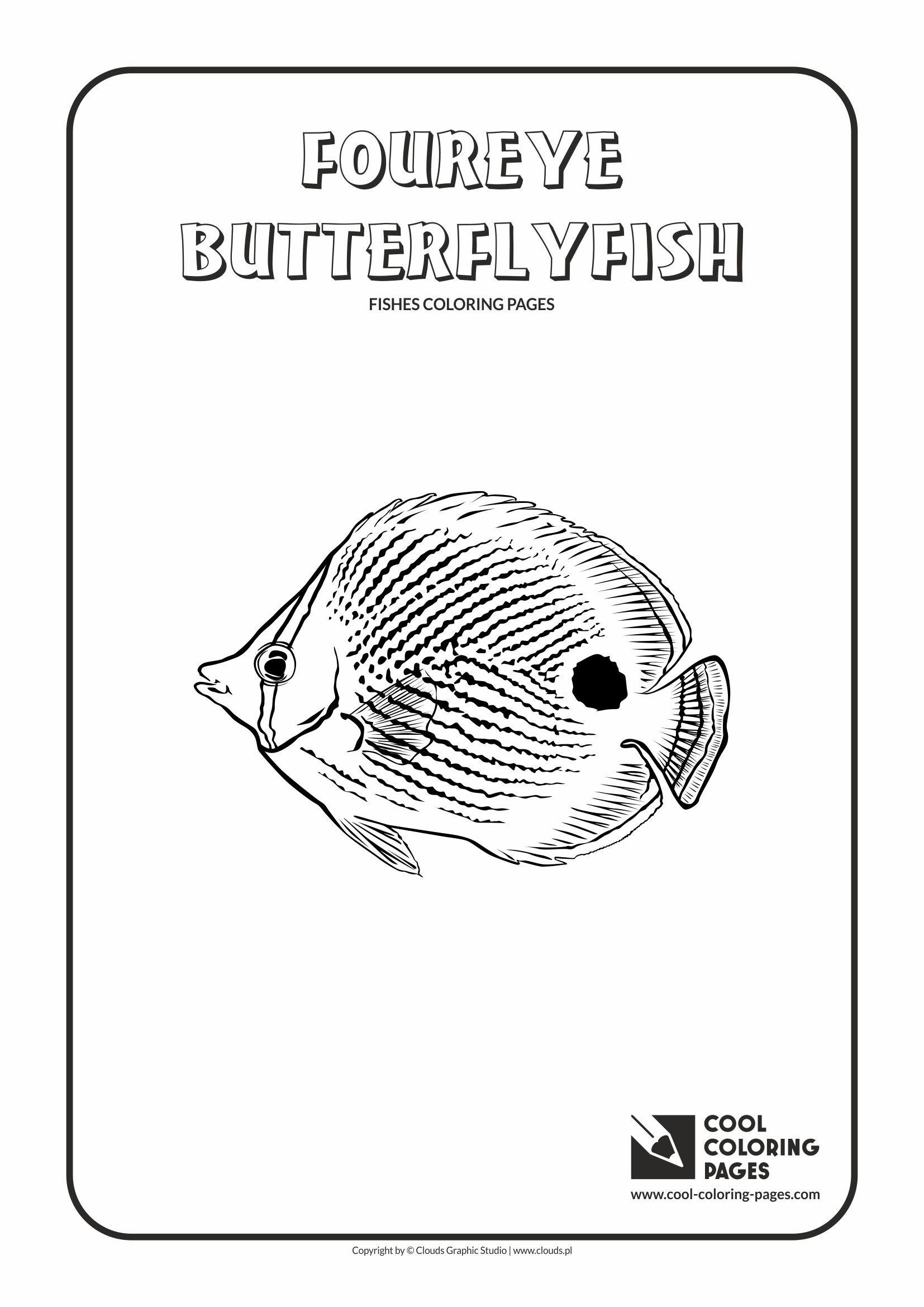 Cool Coloring Pages Foureye butterflyfish coloring page