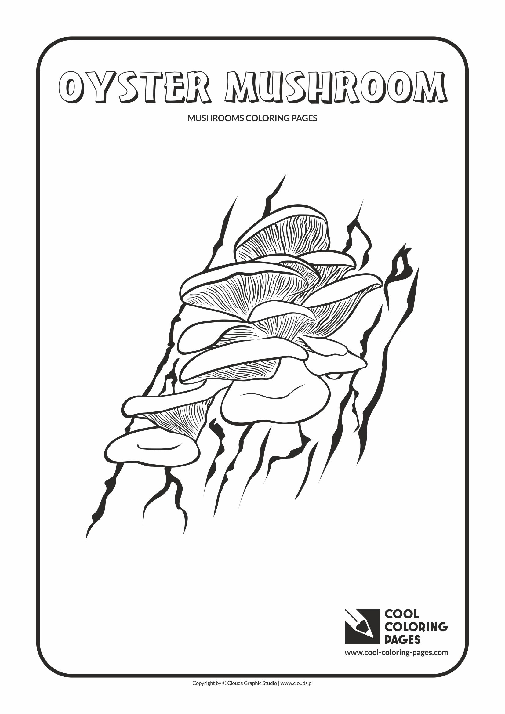 cool coloring pages mushrooms