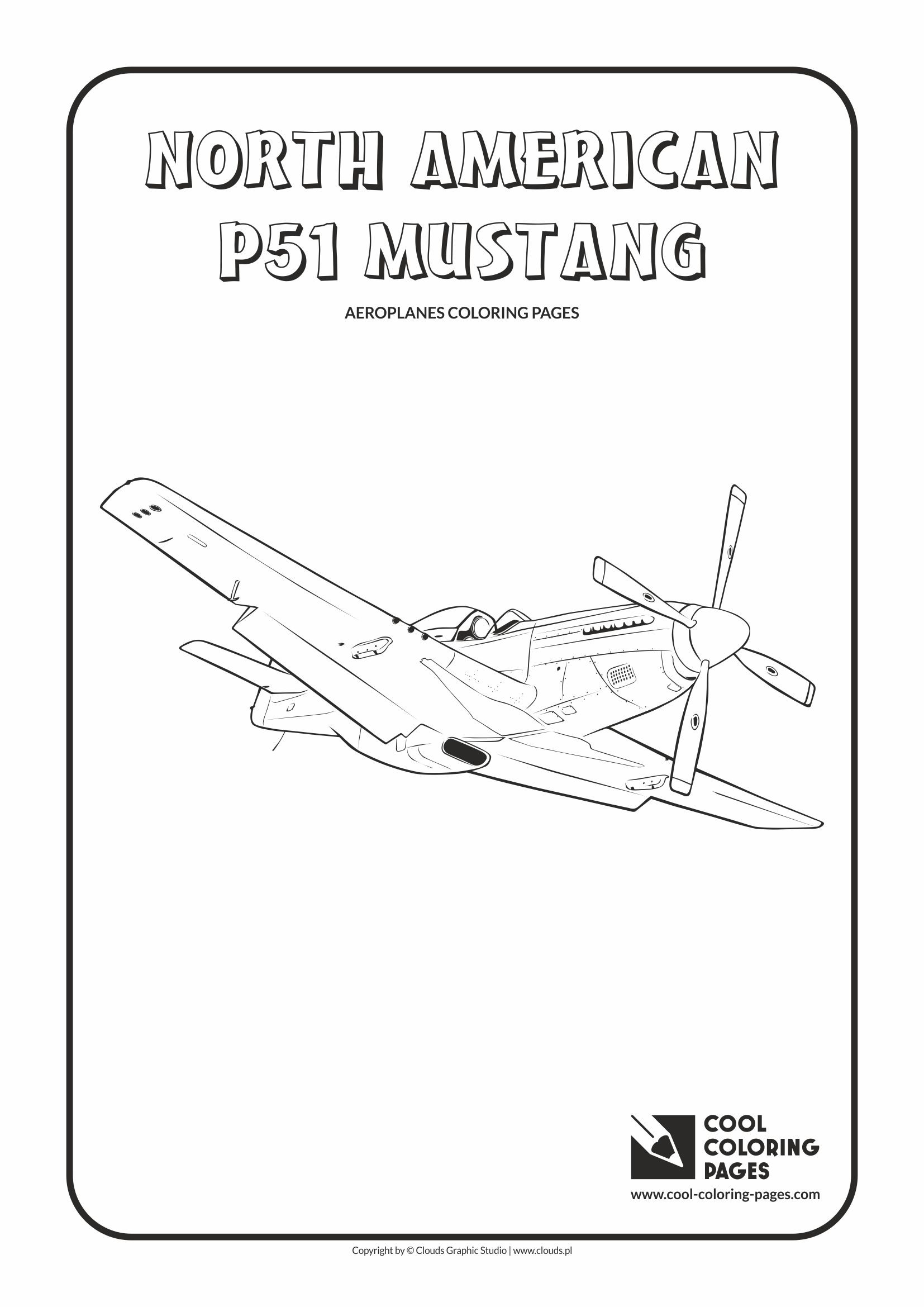 Cool Coloring Pages North American P-51 Mustang coloring