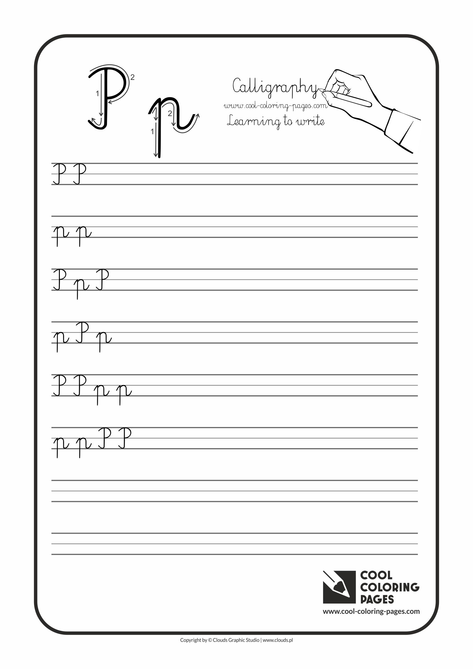Free Printable Cursive P Worksheet Handwriting And Penmanship