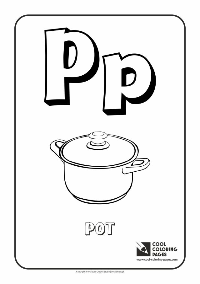 Cool Coloring Pages Letter P - Coloring Alphabet - Cool Coloring