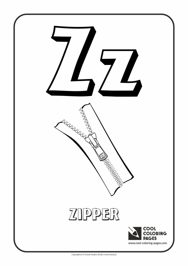 letter z coloring page # 16