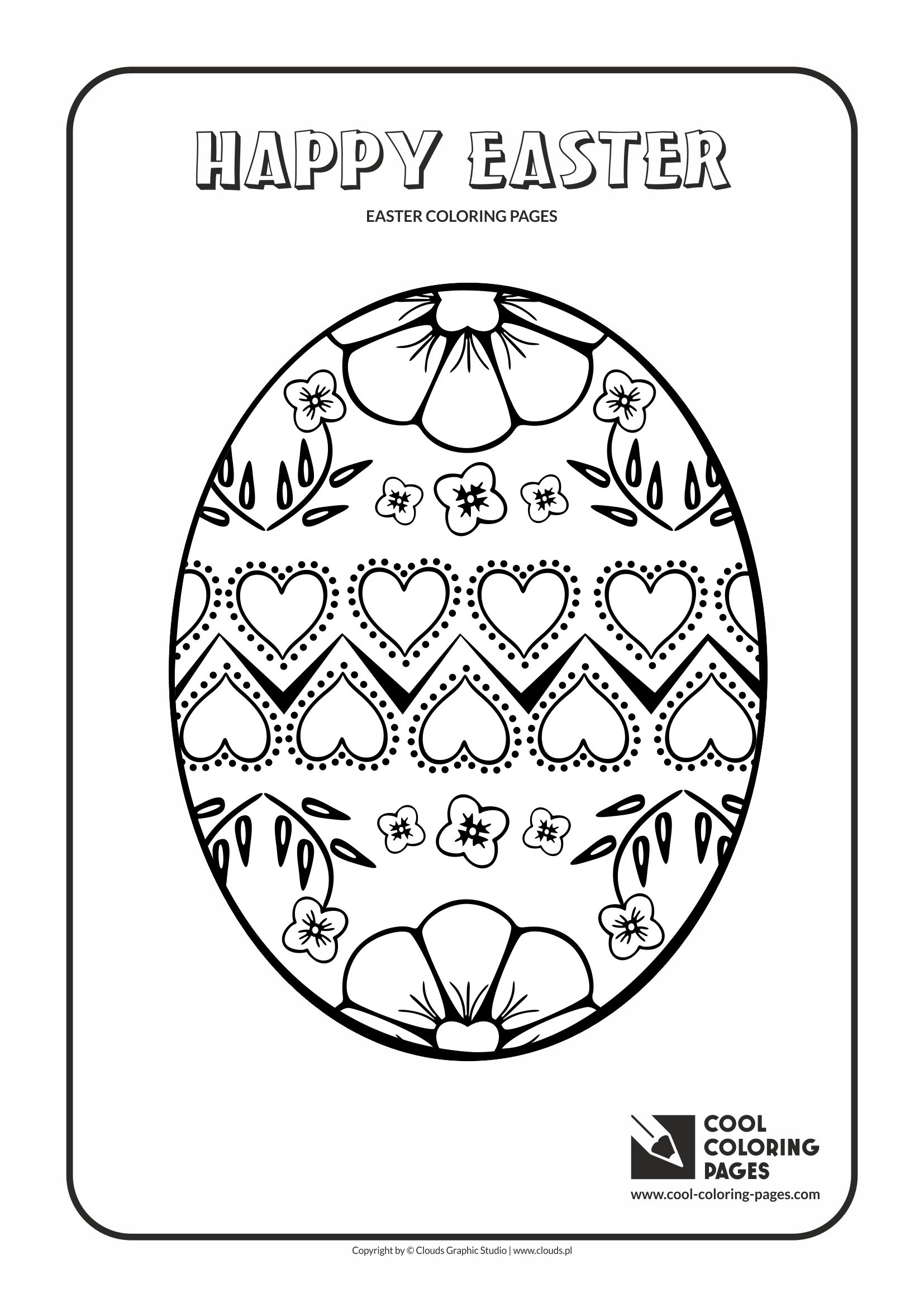 Cool Coloring Pages Easter Egg No 4 Coloring Page