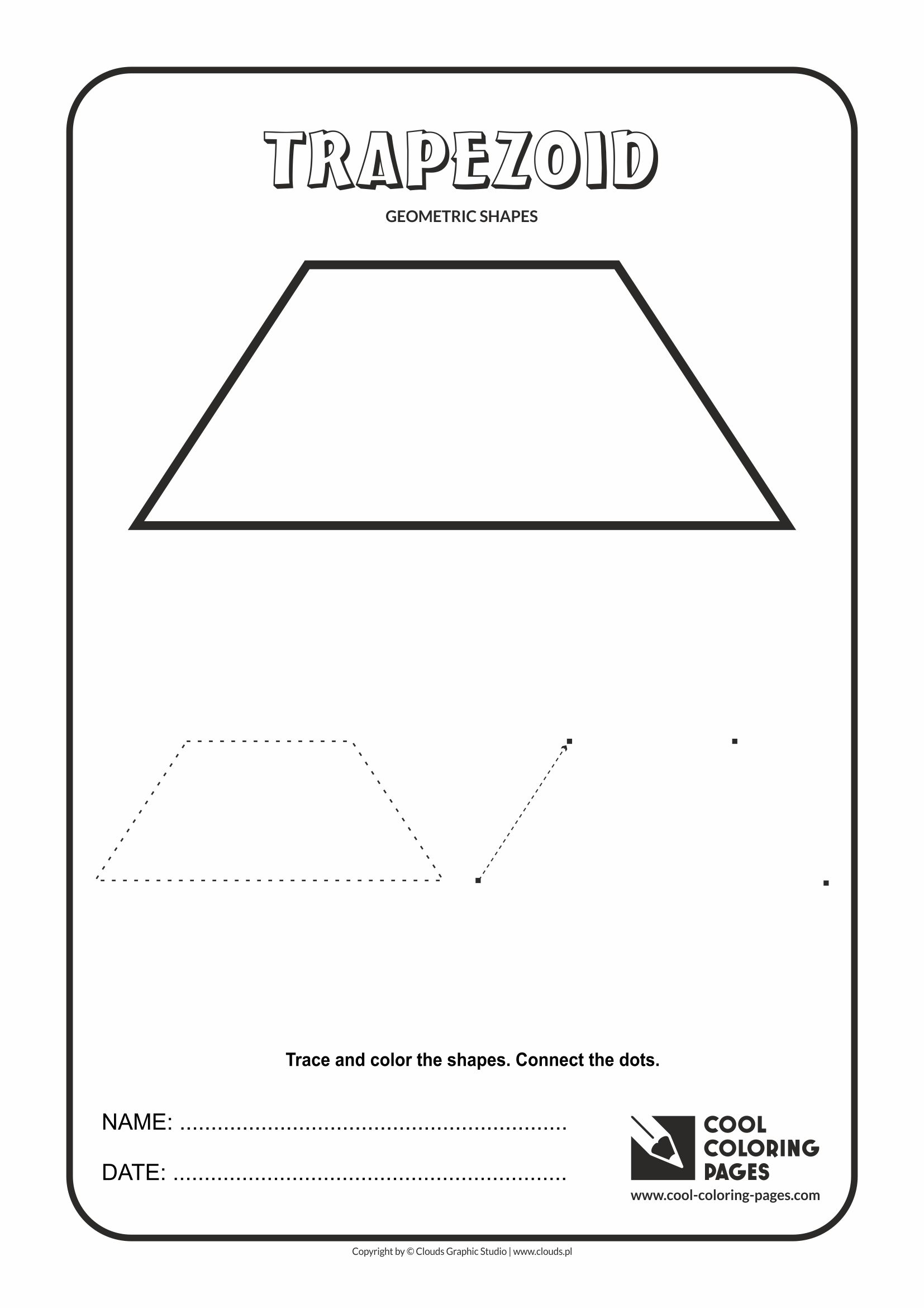 Cool Coloring Pages Geometric Shapes