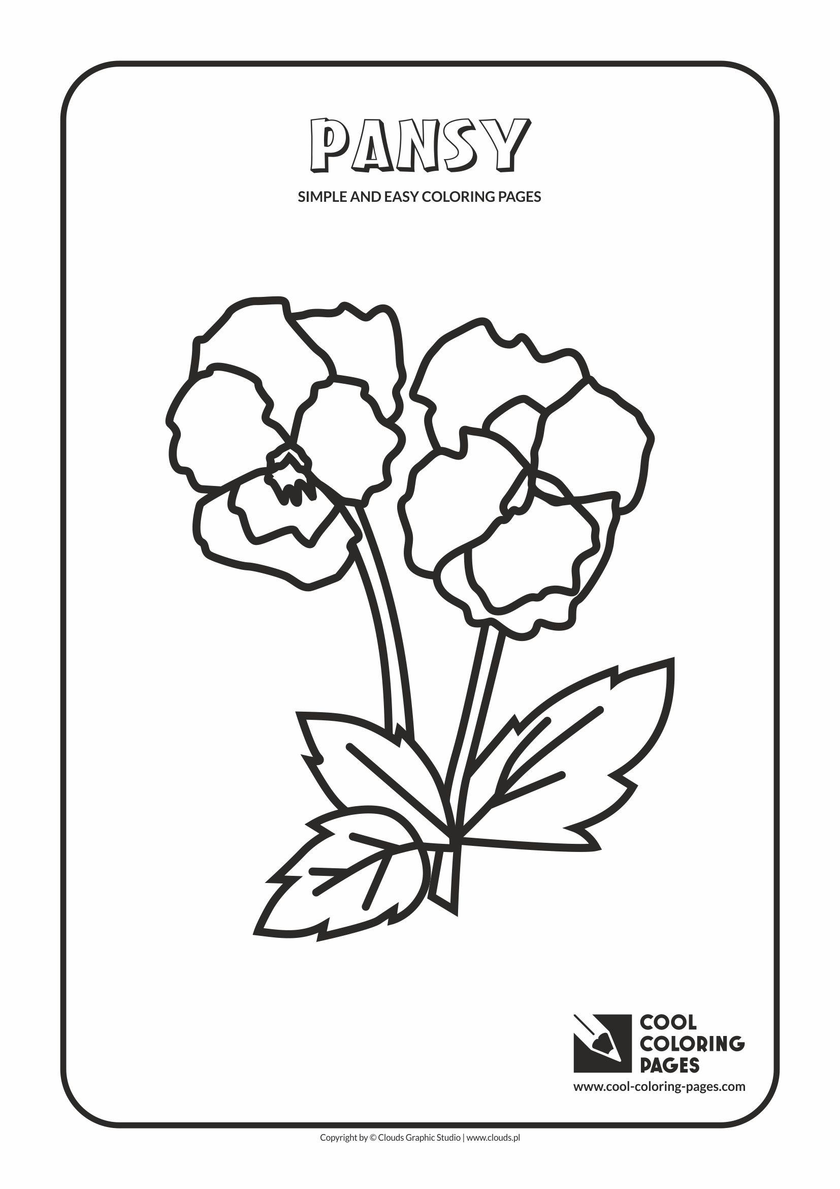 Pansies Flower Printable Coloring Pages. Pansies. Best