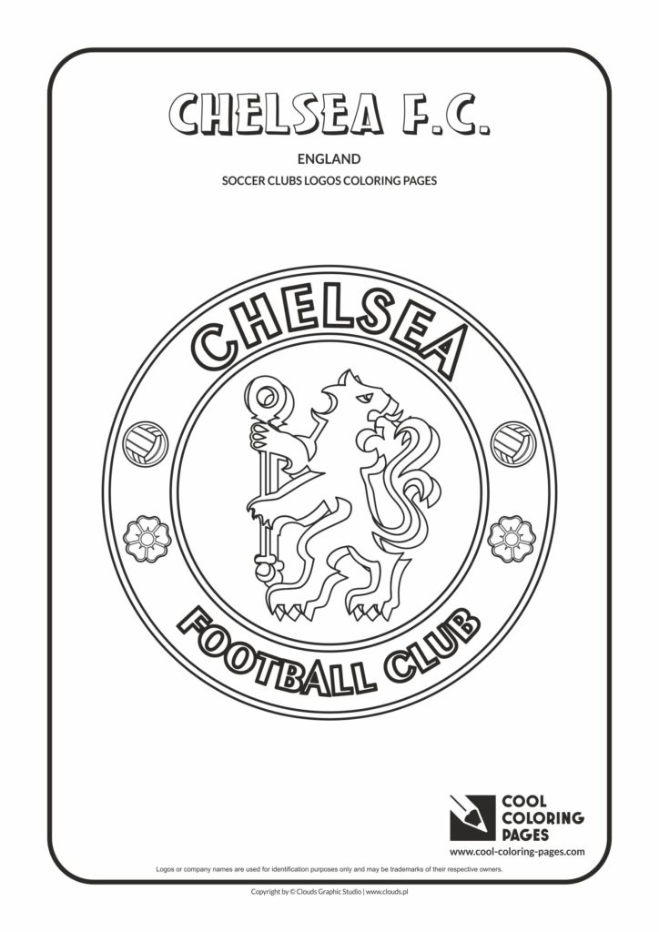 Cool Coloring Pages Chelsea FC Logo Coloring Page Cool