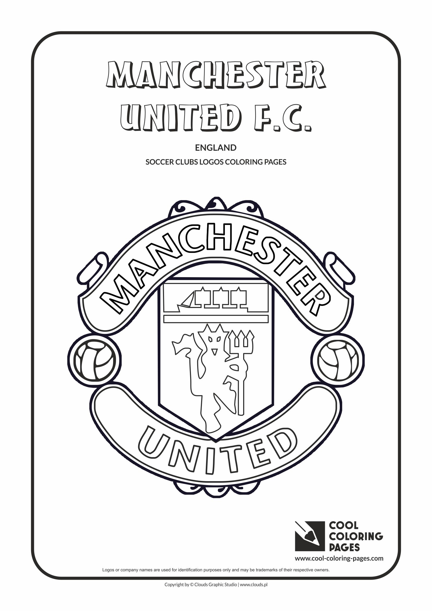 Cool Coloring Pages Manchester United F.C. logo coloring