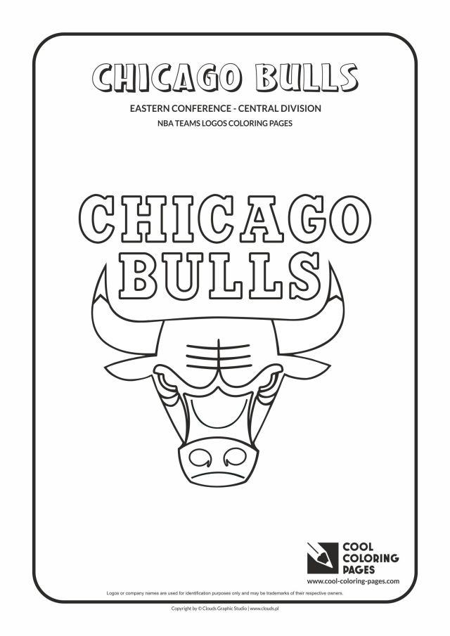 Cool Coloring Pages Chicago Bulls - NBA basketball teams logos