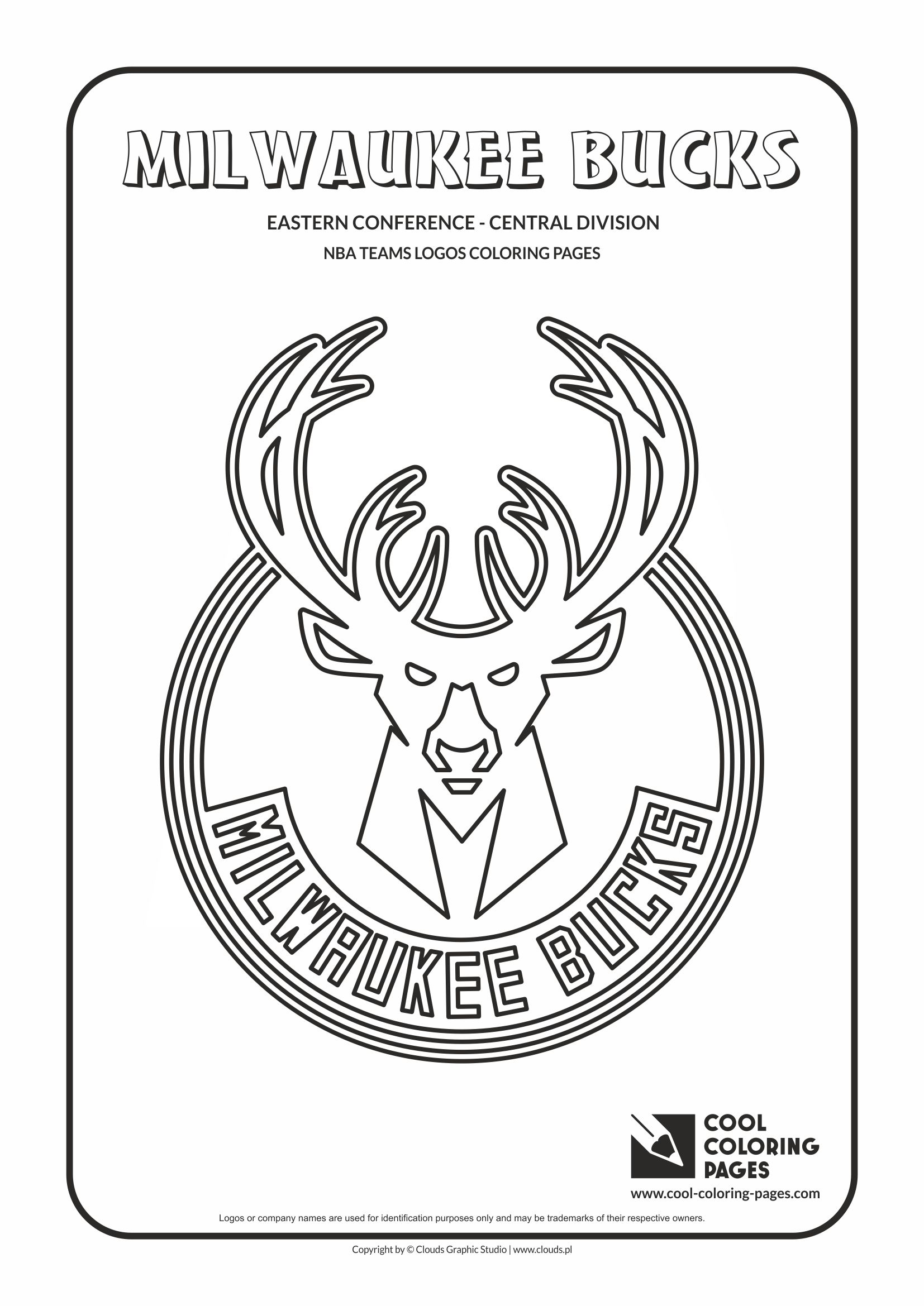 Cool Coloring Pages Milwaukee Bucks