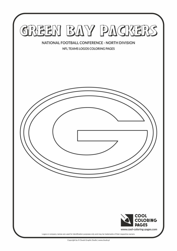 cool coloring pages green bay packers  nfl american