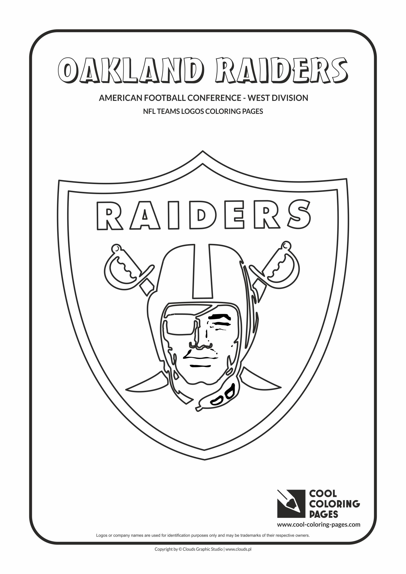 Raiders Nfl Logos Coloring Pages Coloring Pages