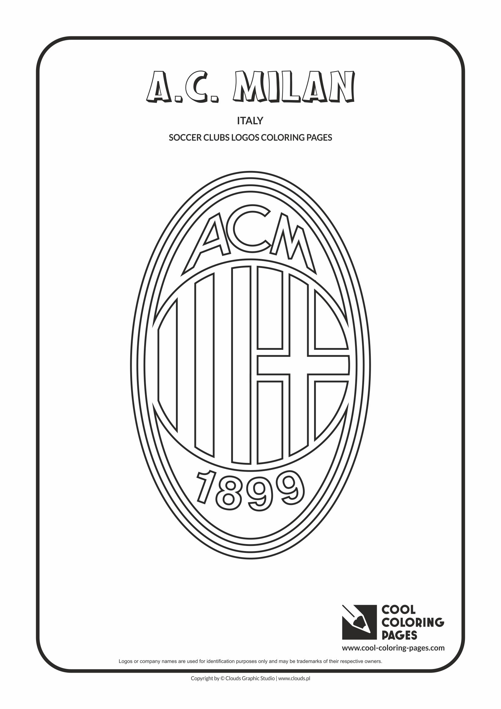 Cool Coloring Pages Soccer Clubs Logos