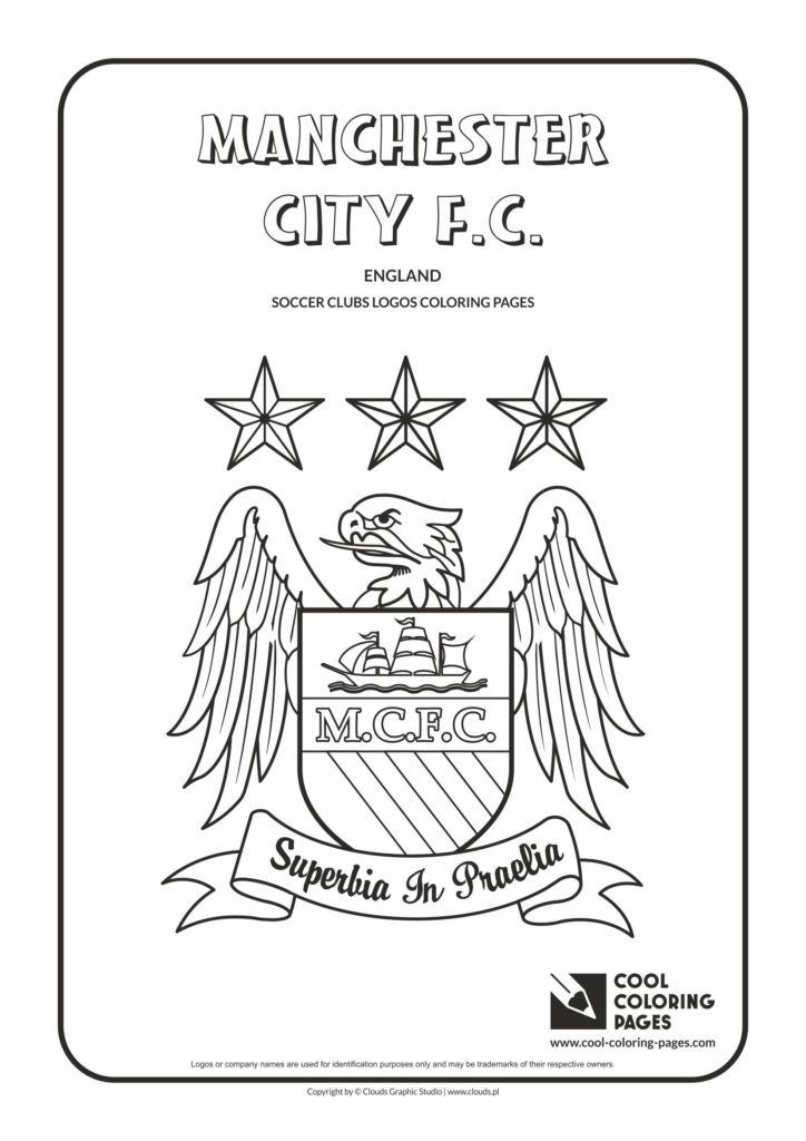 Cool Coloring Pages Manchester City F.C. logo coloring