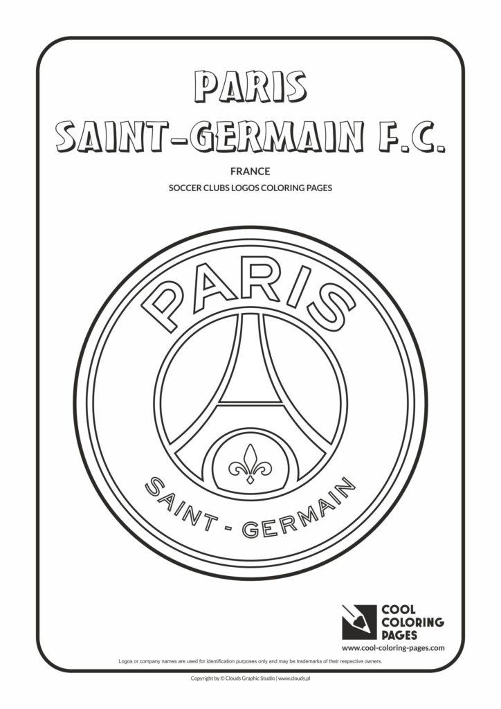 Cool Coloring Pages Paris Saint-Germain F.C. logo coloring