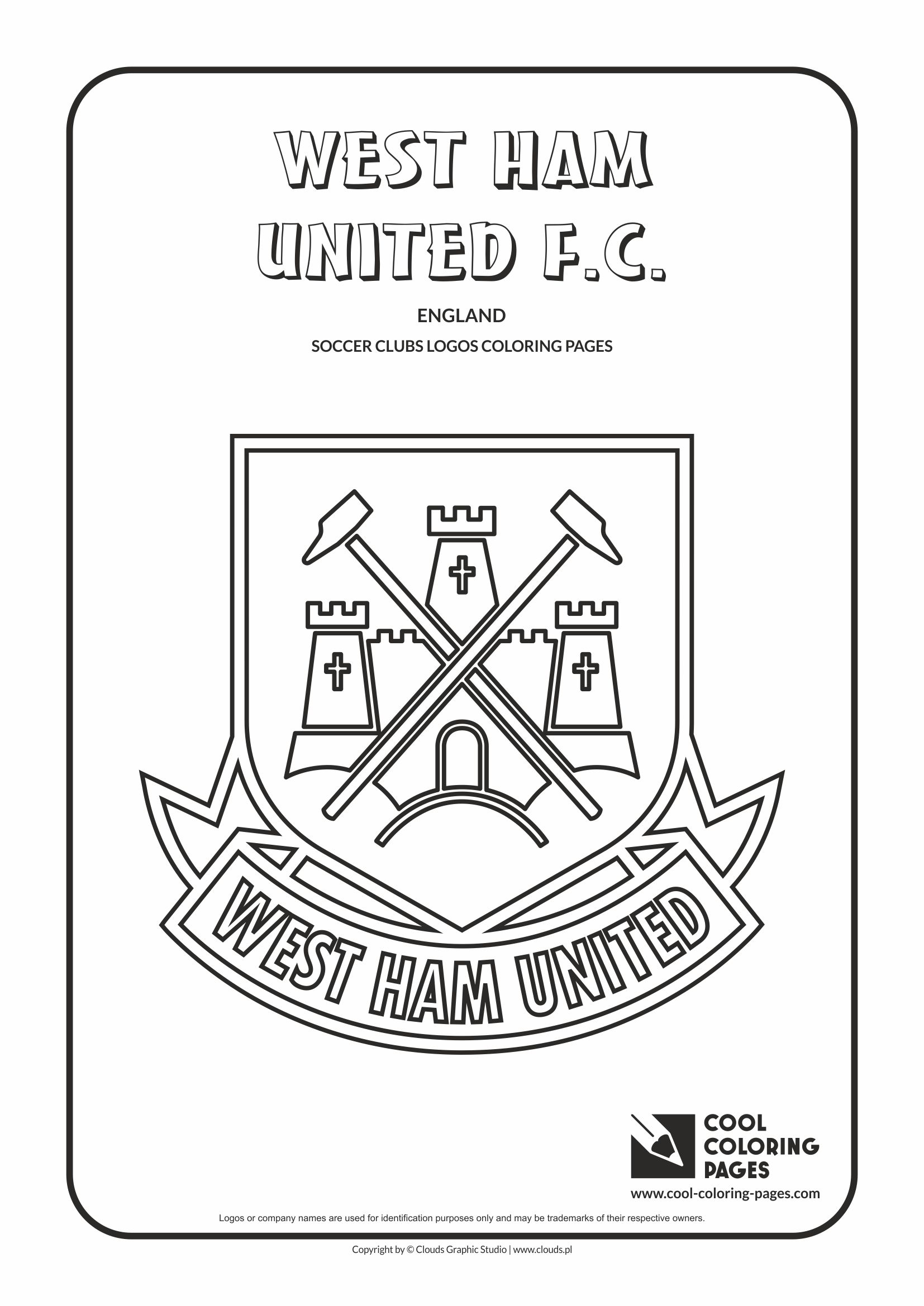 Cool Coloring Pages West Ham United F.C. logo coloring