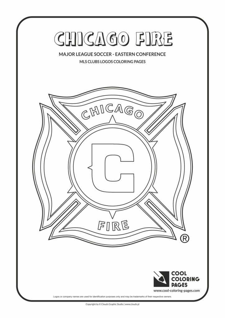 cool coloring pages chicago fire soccer club logo coloring