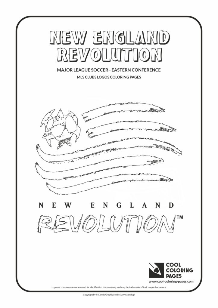 Cool Coloring Pages New England Revolution logo coloring