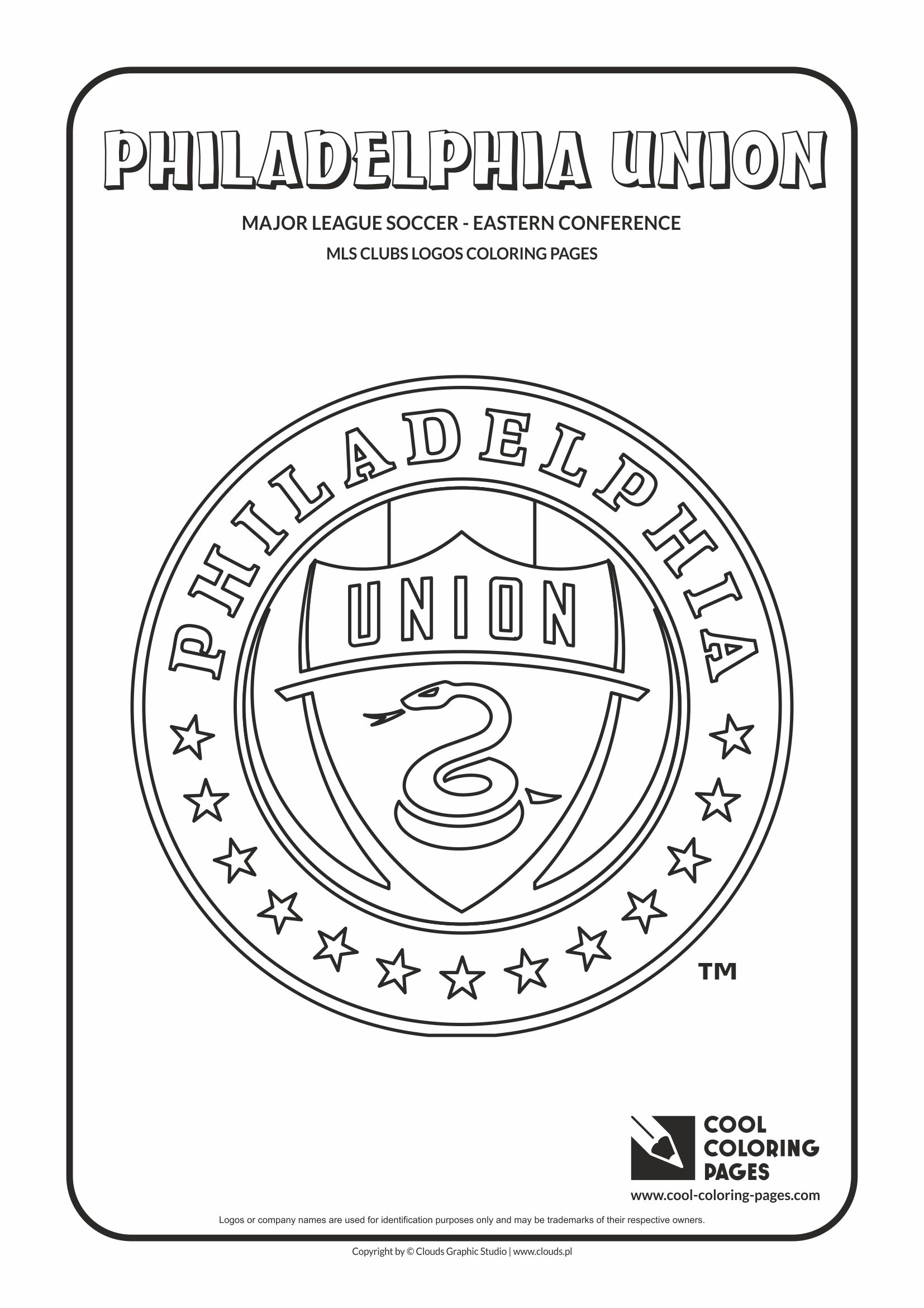 Cool Coloring Pages MLS soccer clubs logos coloring pages