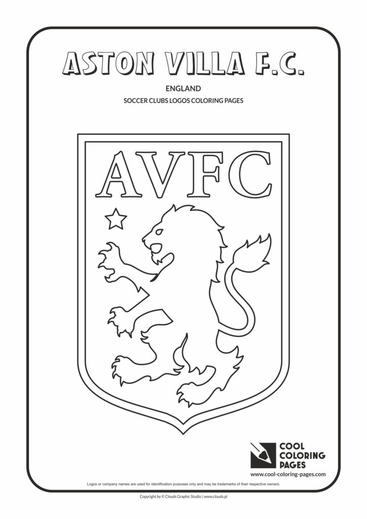 Cool Coloring Pages Aston Villa F.C. logo coloring page