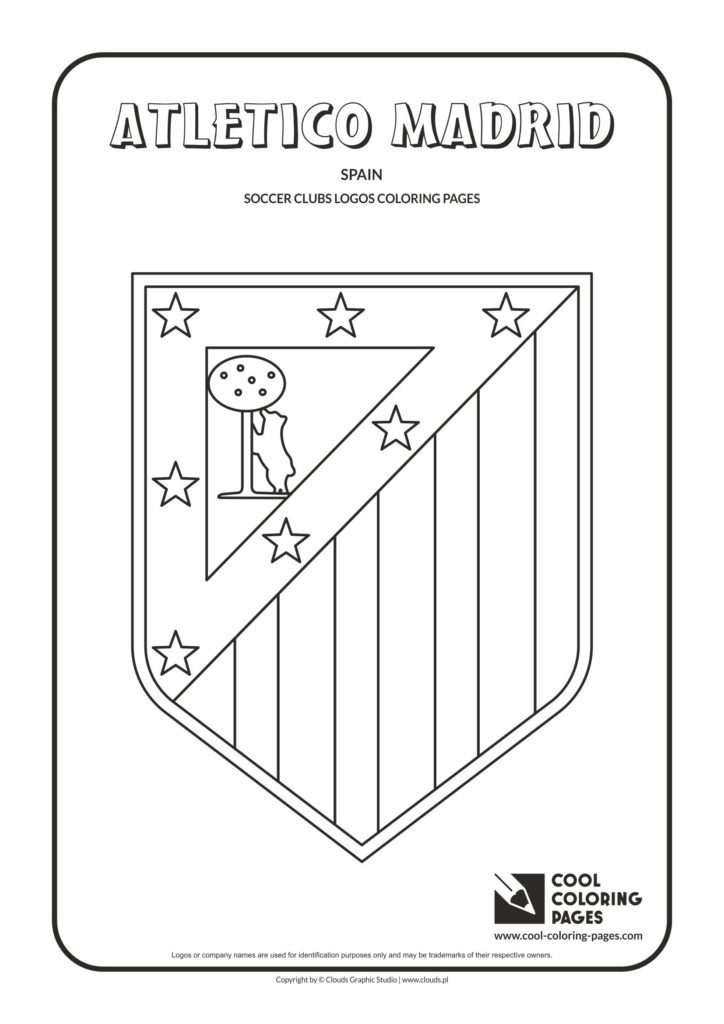 Cool Coloring Pages Atltico Madrid Logo Coloring Page