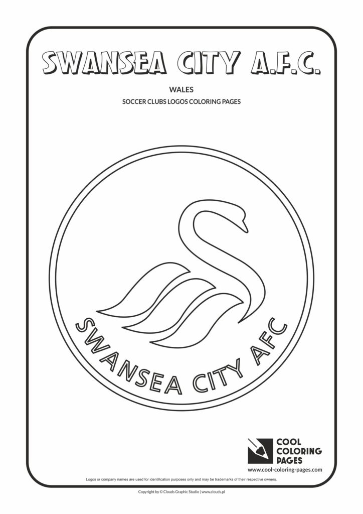Cool Coloring Pages Swansea City A.F.C. logo coloring page