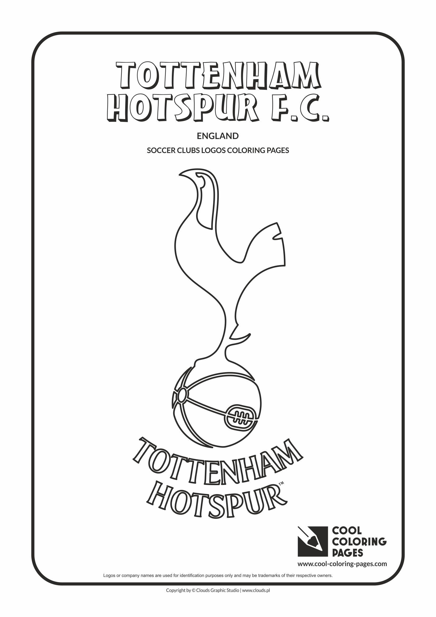 Cool Coloring Pages Tottenham Hotspur F.C. logo coloring