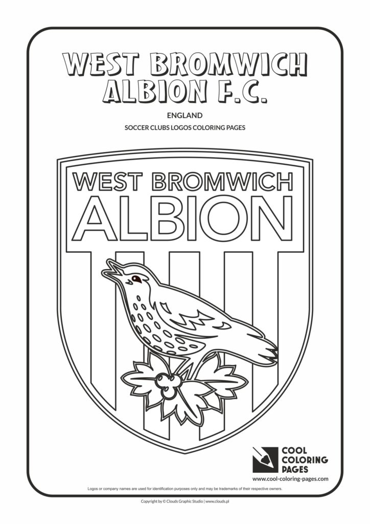 Cool Coloring Pages West Bromwich Albion F.C. logo
