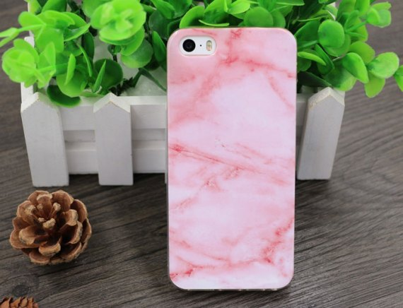 Gift for Girls: iPhone Case Girls Want Now: Marble and Pink, cool iphone 5 cases for teenage girls