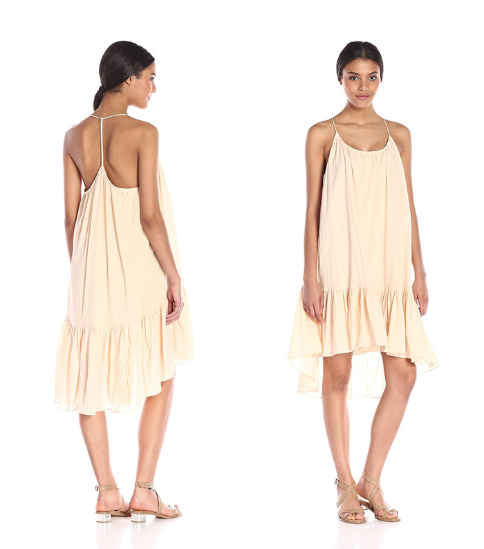 Mary Seng of Happilygrey.com wore this dress on one of her trips to beautiful Santorini, Light peach Moon River Women's T-String Sleeveless Dress