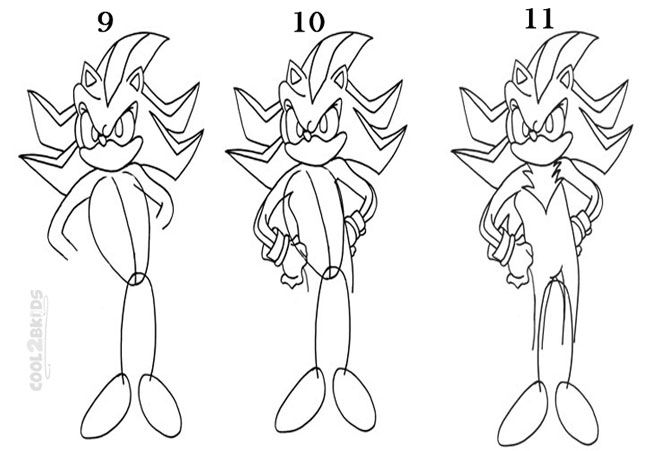 How to Draw Sonic the Hedgehog (Step by Step Pictures