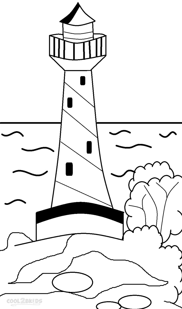 Lighthouse Coloring Pages Free Photos