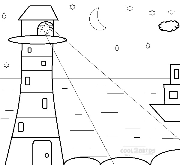 Free coloring pages of lighthouses