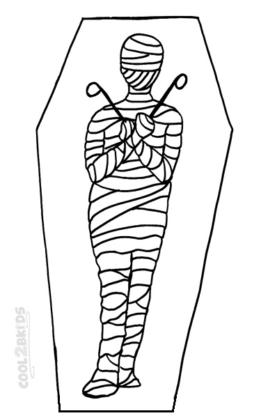 Mummy Case Coloring Pages