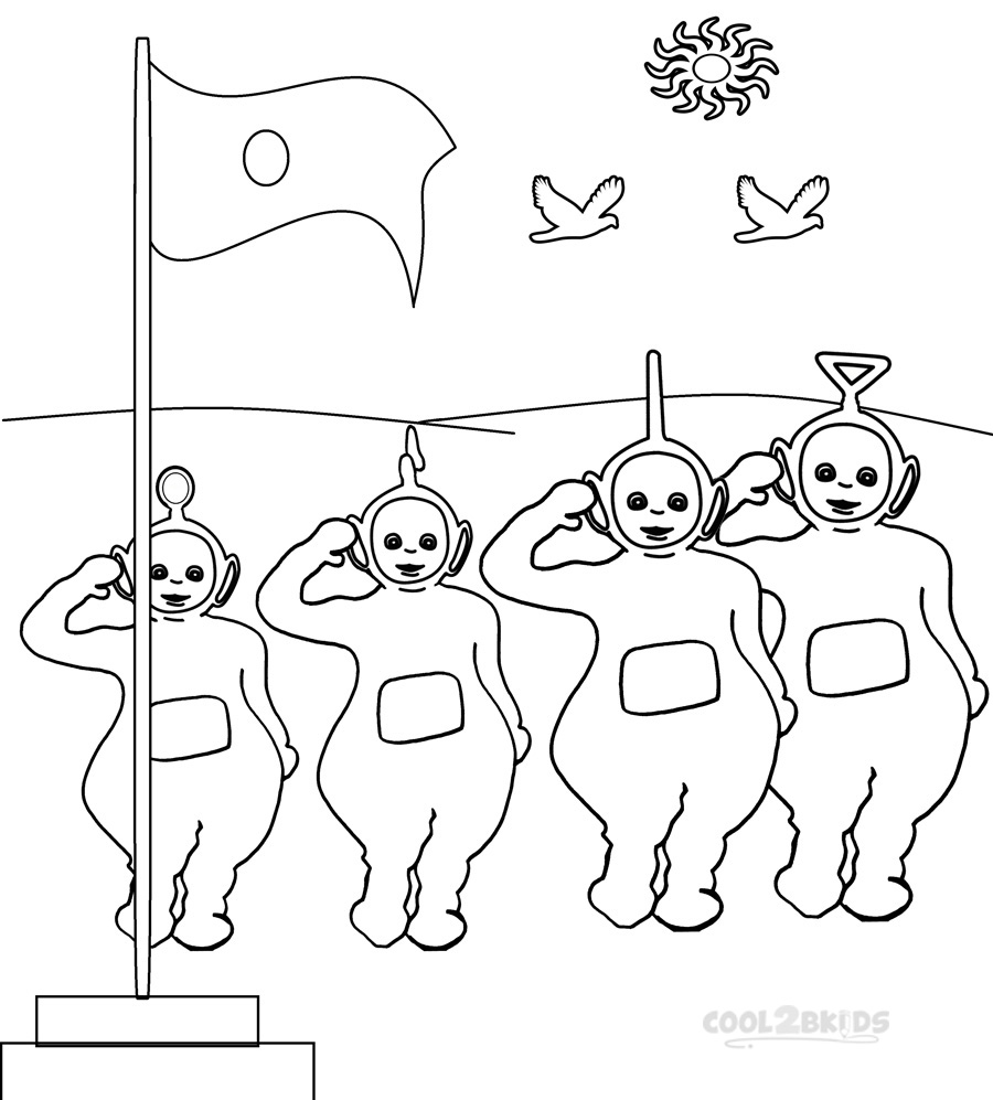 Printable Teletubbies Coloring Pages For Kids