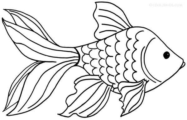 20 Cartoon Goldfish Coloring Pages Ideas And Designs