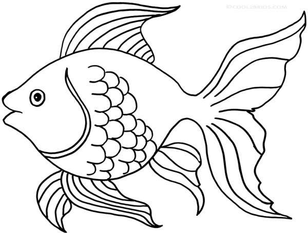 goldfish coloring page # 1