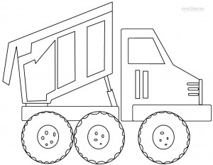 Printable Dump Truck Coloring Pages For Kids