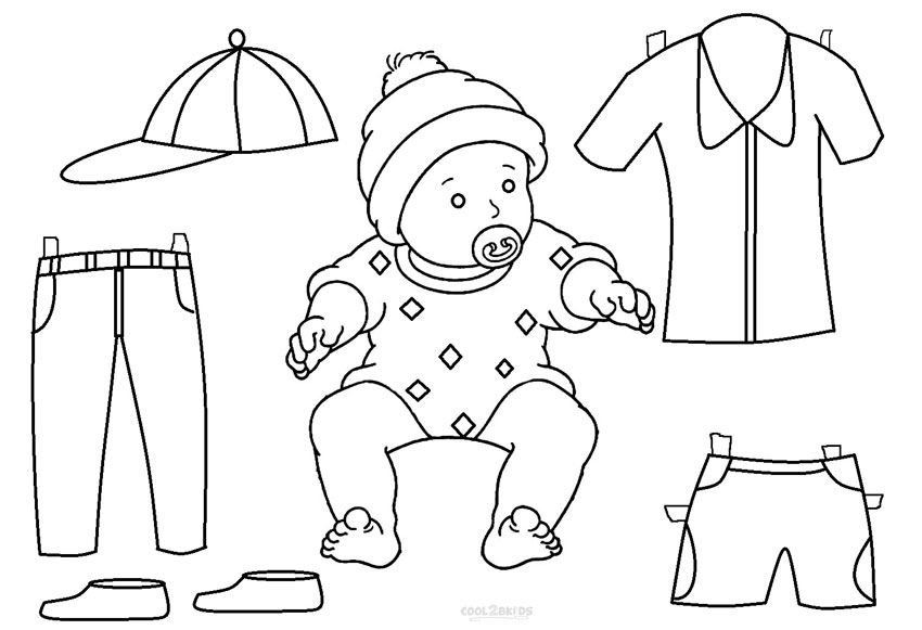 Paper Doll Template Man Suit Sketch Coloring Page