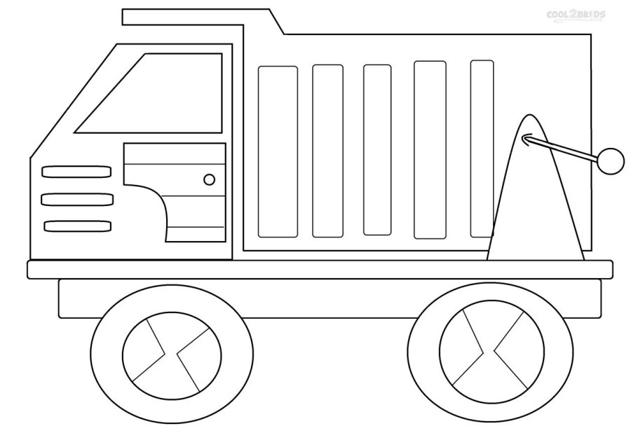Printable Dump Truck Coloring Pages For Kids | Cool2bKids