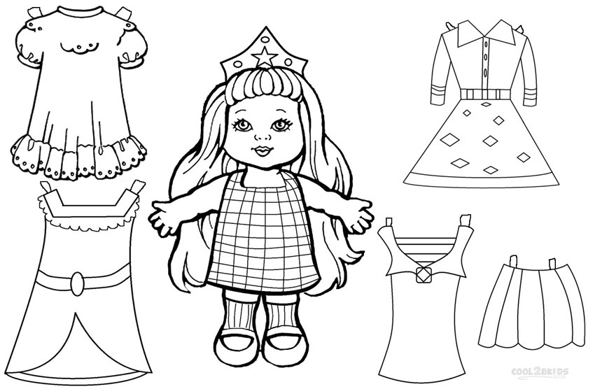 Free Printable Paper Doll Templates