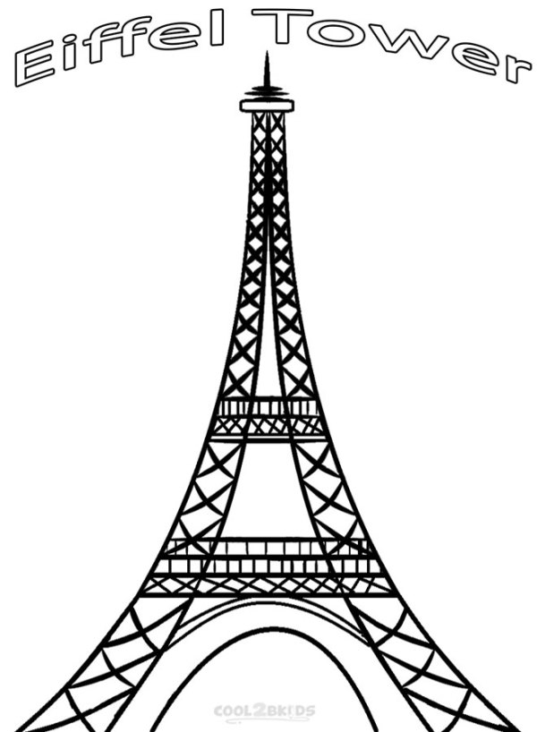 eiffel tower coloring pages # 5
