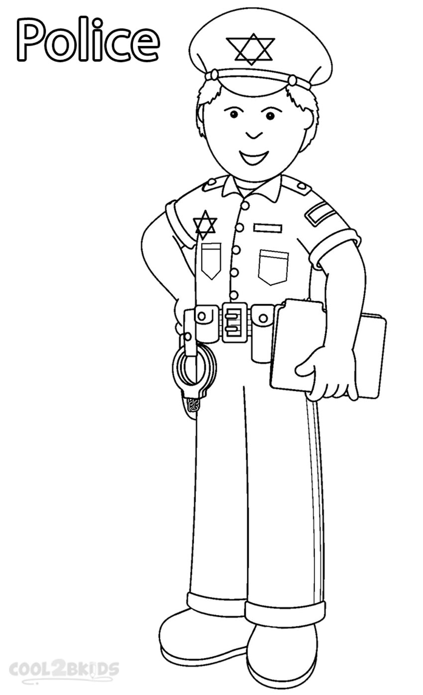 Printable Community Helper Coloring Pages For Kids