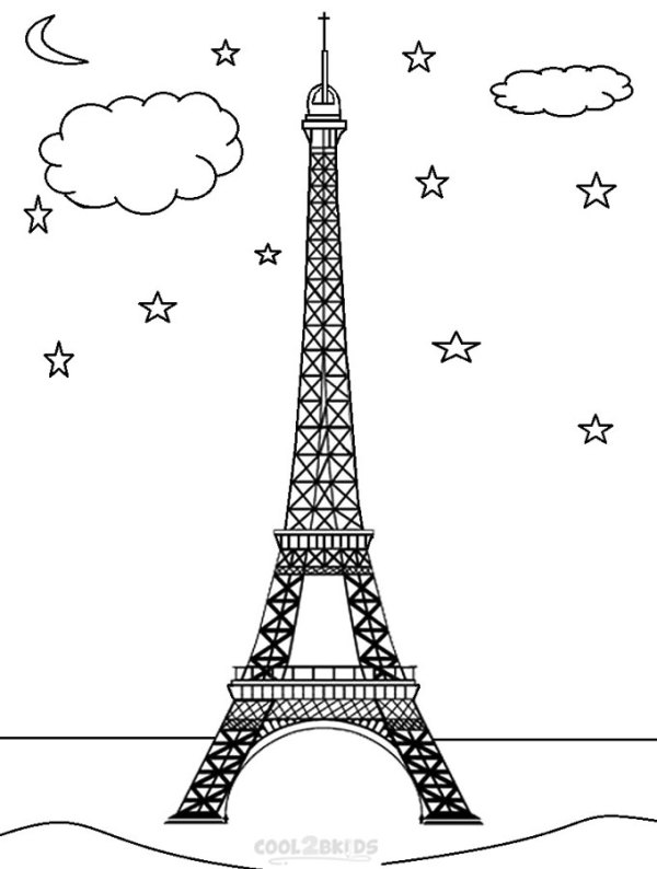 eiffel tower coloring pages # 9