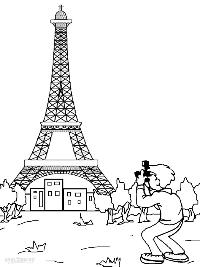 Eiffel Tower Coloring Page Lessons, Worksheets and Activities