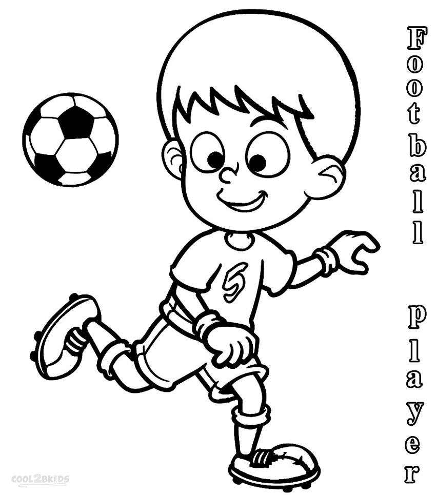 Coloring Pages Players Football Coloring Pages