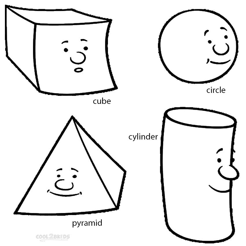 Random Shapes Coloring Pages