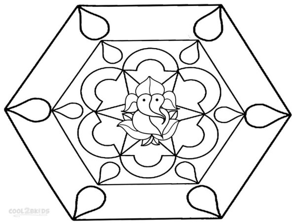 rangoli coloring pages # 76